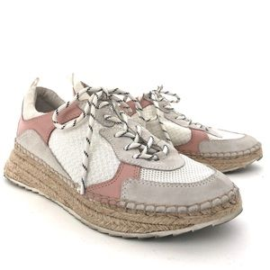 MARC FISHER JANETTE ESPADRILLE SNEAKERS LEATHER 8